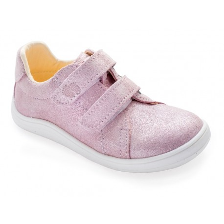 Detské barefoot topánky Baby Bare Febo Spring - sparkle pink