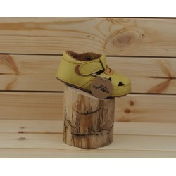 Detské barefoot sandál Pegres B1096 - žltá