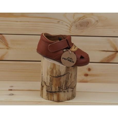 Detské barefoot sandály Pegres B1096 - hnedá