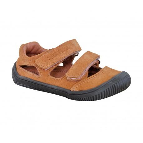 Detské barefoot sandály Protetika Berg - hnedá