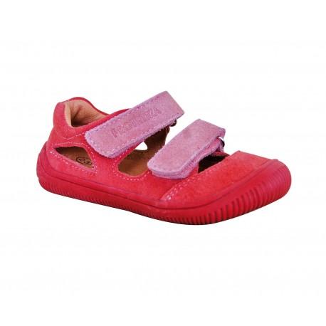 Detské barefoot sandály Protetika Berg - koral