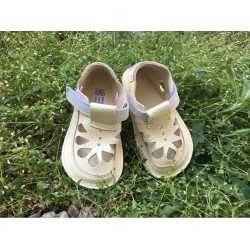 Detské barefoot sandále Baby Bare IO Canary