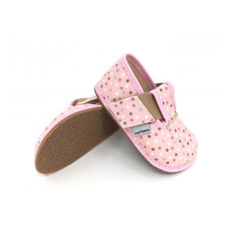 Detské barefoot papuče Pegres BF01 - ružové