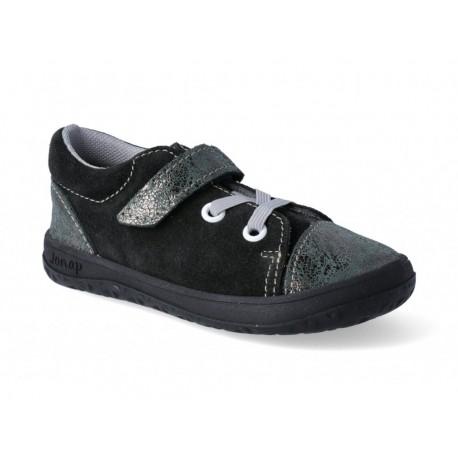 Detské barefoot topánky Jonap B12 - čierna