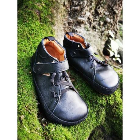 Detské barefoot topánky Pegres BF32 - čierna