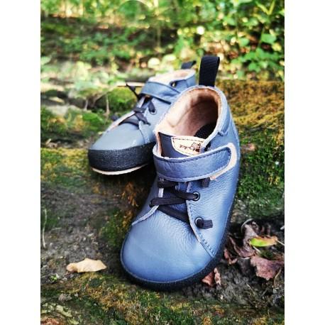 Detské barefoot topánky Pegres BF32 - modrá
