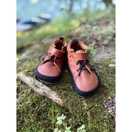 Detské barefoot topánky Pegres BF32 - hnedá