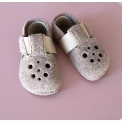 Detské barefoot papuče Pegres BF04 - hnedá