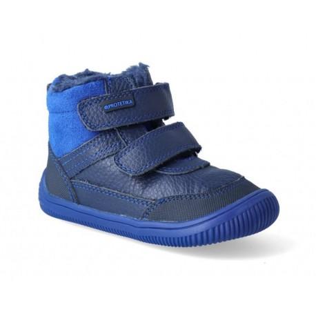 Detské zimné barefoot topánky Protetika Tyrel Blue