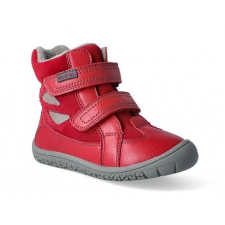 Detské zimné barefoot topánky Protetika Elis Red
