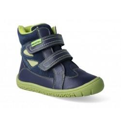 Detské zimné barefoot topánky Protetika Elis Navy