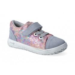 Detské barefoot topánky Jonap B12sv - šedoružová
