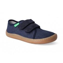Detské plátené barefoot topánky Froddo G1700283-8 dark blue