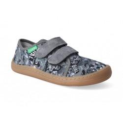 Detské plátené barefoot topánky Froddo G1700283-7 grey