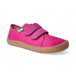 Detské plátené barefoot topánky Froddo G1700283-3 fuxia