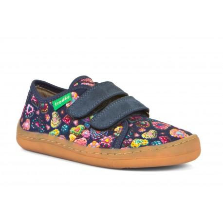 Detské plátené barefoot topánky Froddo G1700302-5 - denim+