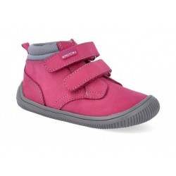 Detská barefoot členková obuv Protetika Fox fuxia