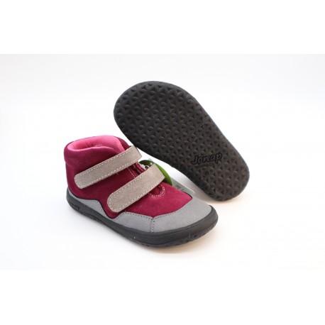 Detské barefoot členková obuv Jonap Bella S vínová