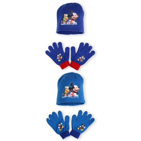 Detská čiapka + rukavice Mickey Mouse