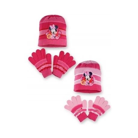 Detská čiapka + rukavice Minnie Mouse